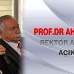 Prof.Dr Ahmet Kızılay, Rektör Adaylığını Açıkladı