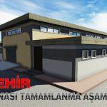 Doğanşehir Mezbahane Binası Tamamlanma Aşamasında