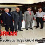 Gürkan, Emekli Olan Personele Teşekkür Plaketi Verdi