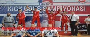 İrlanda'da Kick Boks Dünya Şampiyonası'nda Türkiye'yi Temsil Edecekler