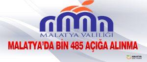 Malatya'da Bin 485 Açığa Alınma