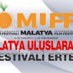 Malatya Uluslararası Film Festivali Ertelendi