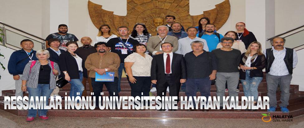 Ressamlar İnönü Üniversitesine Hayran Kaldılar