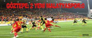 Göztepe: 2 Yeni Malatyaspor:0
