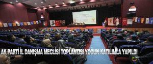 Ak Parti İl Danışma Meclisi Toplantısı Yoğun Katılımla Yapıldı