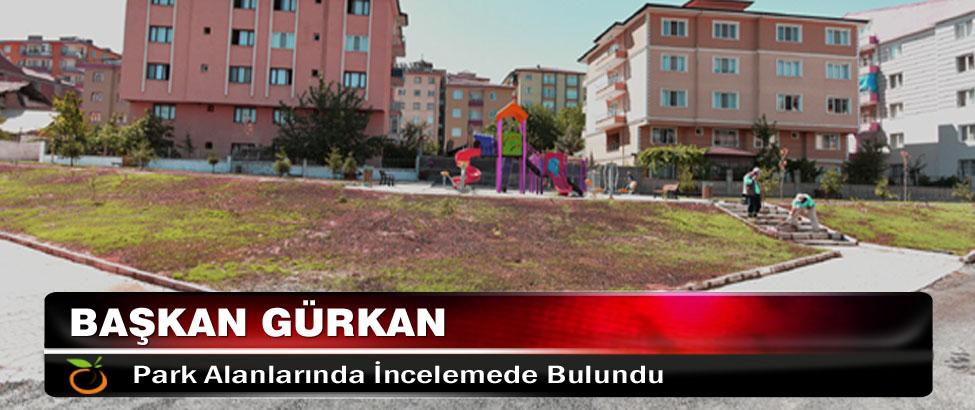 Başkan Gürkan, Park Alanlarında İncelemede Bulundu