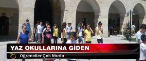Yaz Okullarına Giden Öğrenciler Çok Mutlu
