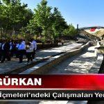Başkan Gürkan, İspendere İçmeleri'ndeki Çalışmaları Yerinde İnceledi