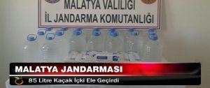Malatya Jandarması 85 Litre Kaçak İçki Ele Geçirdi