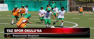 Yaz Spor Okulu'na Başvurular Başlıyor