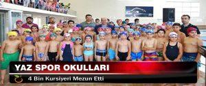 Yaz Spor Okulları 4 Bin Kursiyeri Mezun Etti