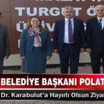 Büyükşehir Belediye Başkanı Polat'tan Rektör Prof. Dr. Karabulut'a Hayırlı Olsun Ziyareti