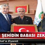 Kahraman Şehidin Babası Zeki Sekin'den Başkan Polat'a Ziyaret