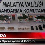 Malatya'da Uyuşturucu Operasyonu 4 Gözaltı