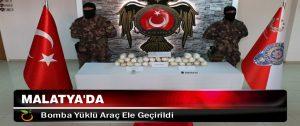 Malatya'da Bomba Yüklü Araç Ele Geçirildi