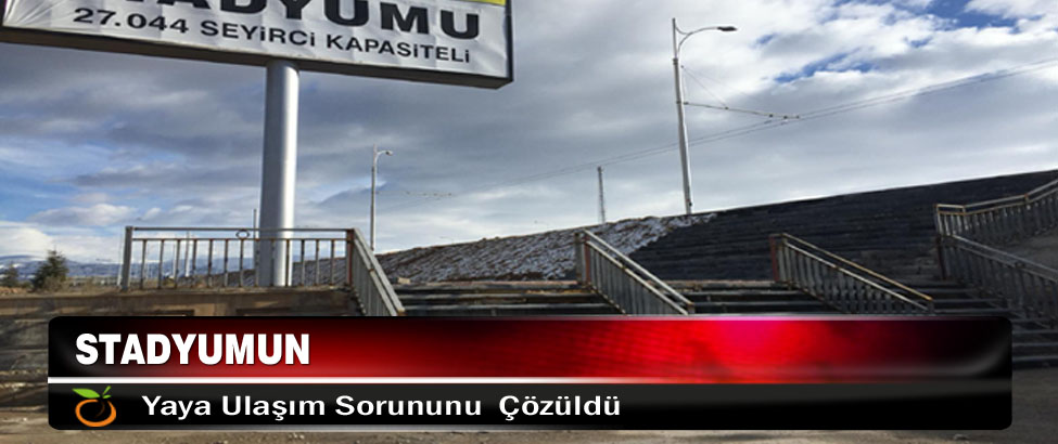 Büyükşehir Belediyesi Stadyumun Yaya Ulaşım Sorununu Çözdü