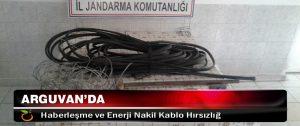 Arguvan'da Haberleşme ve Enerji Nakil Kablo Hırsızlığ