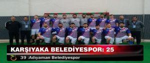 Karşıyaka Belediyespor: 25-39 :Adıyaman Belediyespor