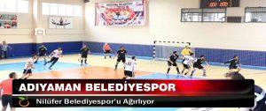 Adıyaman Belediyespor, Nilüfer Belediyespor'u Ağırlıyor
