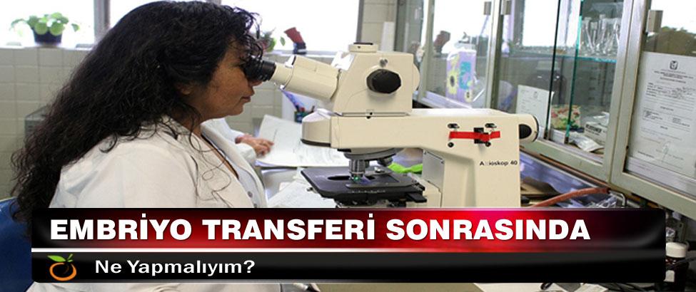 Embriyo Transferi Sonrasında Ne Yapmalıyım?