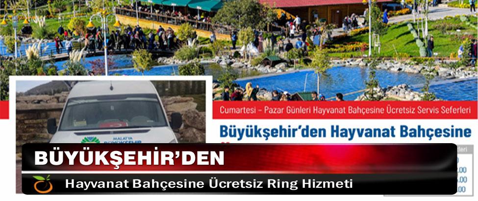Büyükşehir'den Hayvanat Bahçesine Ücretsiz Ring Hizmeti