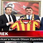 Adil Gevrek Başkan Gürkan'a Hayırlı Olsun Ziyaretinde Bulundu