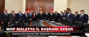 15 MHP İl Başkanı Ankara'da..